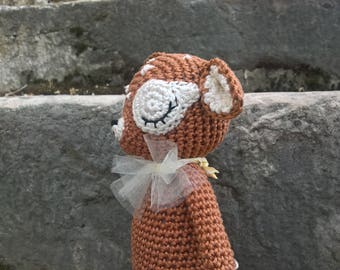 Amigurumi fawn - Little deer crochet toy - Cerbiatto amigurumi - Nursery decoration - Fawn wood animal