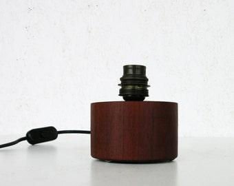 Danish design lamp base, danish table lamp, vintage table lamp, wooden table lamp, wooden lamp base
