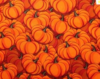 Thanksgiving Halloween Pumpkin Vegtable Food Holiday Quilt Blanket Novelty Kid Boy Girl Baby Orange Green Cotton Fabric