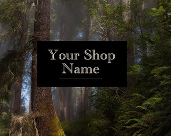 Forest Banner Set, Shop Banner Set, Shop Banner, Banner Design, Banner Set, Graphic Design, Custom Banner, Premade Banner, Cover Photo,