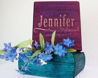 Cute bridesmaid proposal, bridesmaid gift box, custom gift box, brightly colored box, custom gift box, brightly colored box, MOHposal box,