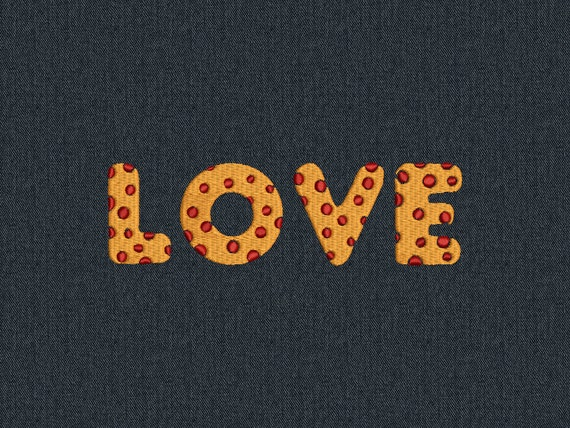 Love - Machine embroidery design - for instant download