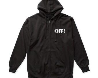 OFF! Surfer Boyfriend zip up hoodie (OFFZ01) Black
