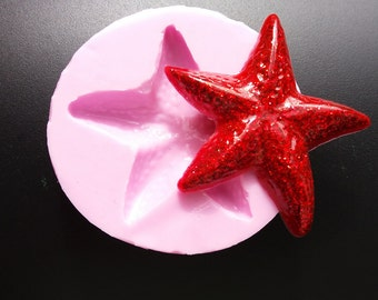Silicone rubber mold Starfish! For polymer clay or resin