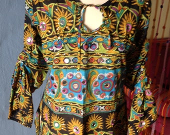 BEAUTIFUL  Indian gypsy mirrored   blouse