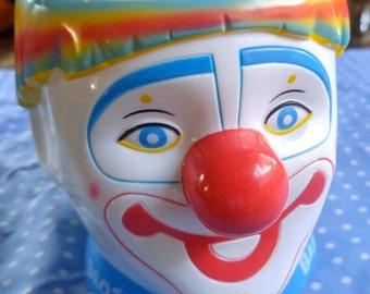 Rainbow clown mug