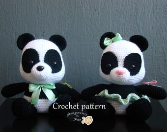 Mr. and Mrs Panda amigurumi pattern