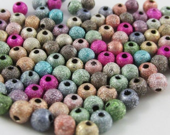 28g approx 1000 pcs Acrylic Stardust Beads 4mm Hole 1mm (B124)