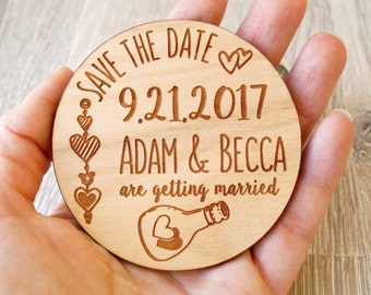 Save the Date magnets, wedding save the dates, wooden magnets, save the dates, rustic save the date magnets, set of 25 pc