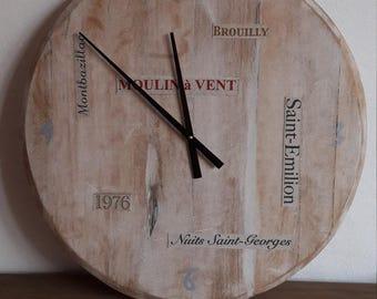 Pendulum, clock was white ceruse oak