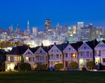 San Francisco skyline canvas at night, Golden Gate  Canvas, San Francisco wall canvas, 3 panel or single panel San Francisco  wall art