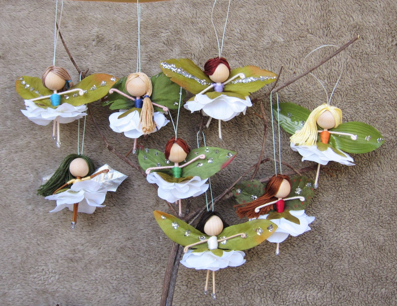 Flower Fairy Dolls Miniature Fairies Fairy Ornaments
