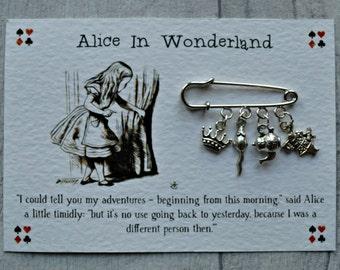 Alice In Wonderland Brooch  - Literary Gift