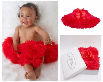Red Baby Tutu Pettiskirt 0-1 years