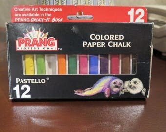 Colored Chalk Prang Pastello Paper Non-Toxic Square 5/16 X 2-1/8 in Assorted x10 SALE