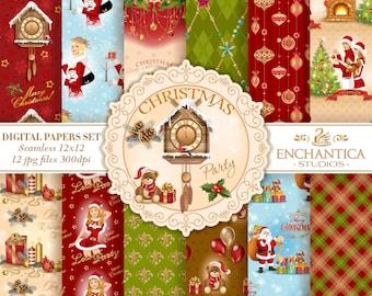 Christmas Digital Paper, Digital Paper Christmas, Holidays Digital Paper, New Year, Christmas Patterns Scrapbooking, Background, Snowflake