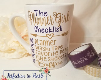 Planner Girl Decal // Planner Girl Checklist Decal // Planner Addict Accessories // Decal For Planner // Planner Sticker //