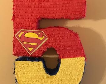 Superman Number Pinata