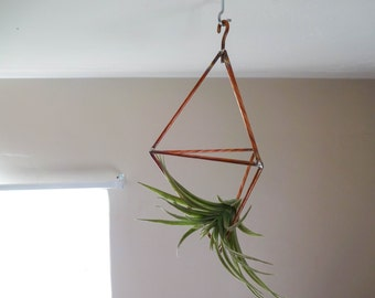 Geometric Copper Wall Hanger - Medium Airplant Terrarium