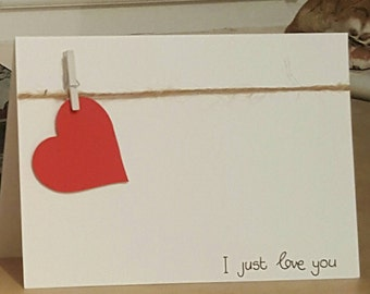 I Just Love You - Valentine's Card