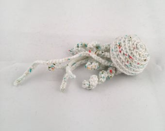 White Jellyfish Toy with Colored Spots