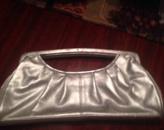 Vintage silver clutch purse