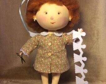 "Кукла по мотивам картины  Гапчинской ""Я научилась делать праздник ""    Doll based on the picture Gapchinskoy ""I learned how to make holiday"""