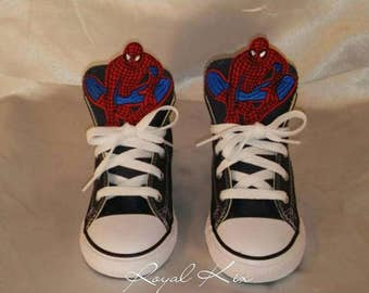 Spiderman Converse / Chucks/ Party / Boys/ Character / Red/ Blue