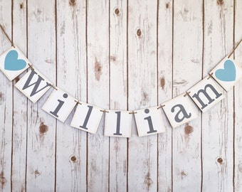 BABY BOY NAME banner, baby boy name sign, baby boy banner, baby boy baby shower, baby shower banner, baby shower decorations