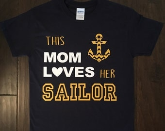 This Mom loves her Sailor Navy shirt