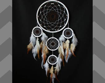Dream catcher Dreamcatcher  Indian talisman white and brown color, Boho Home Decor