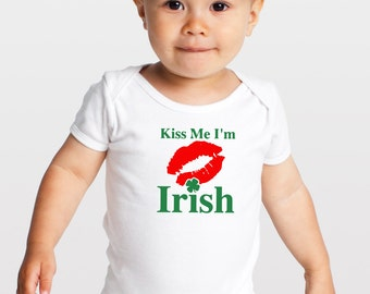 kiss me im irish shirt, kiss me im irish onesie, kiss me im irish toddler shirt, kids shirt st pattys day tank, saint patricks day shirt