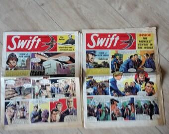 Swift Comic Companion to Eagle Girl and Robin, Vintage 1960s comics, Swift Dixon Of Dock Green 1960 & 1961 Editions