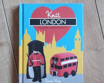 Knit London by Emma King, 10 Iconic London Projects to Knit, London England Knitting Patterns, Union Jack Knitting Pattern, Knit British