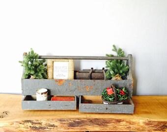 Vintage Handmade Large Carpenters Tool Box