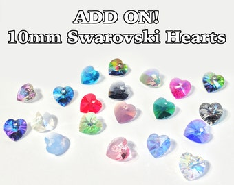 Add-On!: 10mm Swarovski Heart Crystals