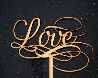 Love Swirls - Wedding Cake Topper Decoration