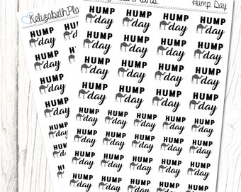 Hump Day (Monochrome Collection) | Midweek, Hump Day, Weekend, Planner Stickers