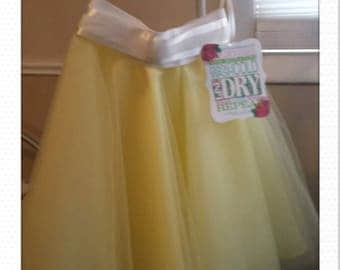 lil cowgirl yellow maize tulle skirt