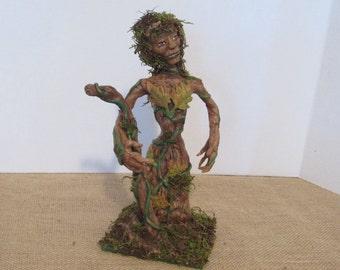 "OOAK Art Doll, Polymer Clay Doll, Handmade ""Treena"" Tree Fae, by Sherry Harrison **Free Shipping"