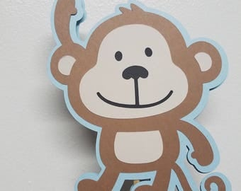 Monkey theme baby shower, Monkey party,  Baby shower centerpiece,