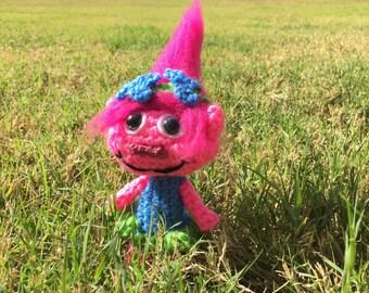 Pink Troll Only the Pattern PDF, Pink girl trolls, toy plush, amigurumi troll