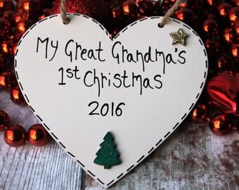 Great Grandma - Gift for Great Grandma - Christmas Gift for Great Grandma - Personalized keepsake for Grandma - Great Grandma Gift - Grandma
