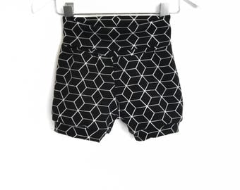 Geometric Black shorts