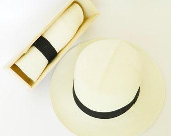 Foldable Panama Hat white