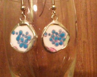 broken china earrings