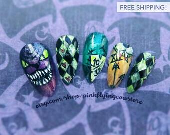 Halloween in Wonderland press on nails