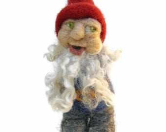 Waldorf Inspired Needle Felted Gnome for Nature Table