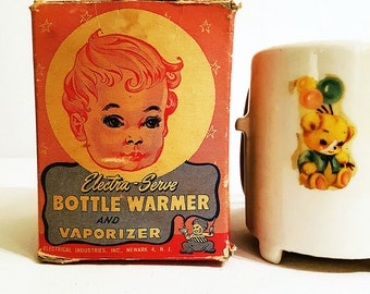 1940s Electra-Serve Electric Baby Bottle Warmer Vaporizer, With Original Box