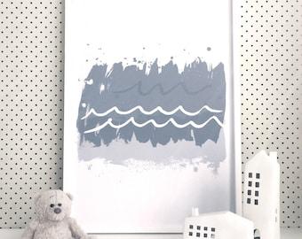 Abstract Waves Art Print